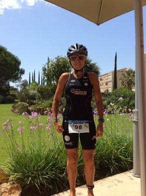 Joëlle avant la course