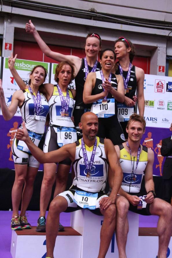 aquathlon podium par equipe